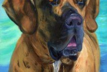 Fila Brasileiro Dog Art by Lyn