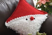 Crochet and knitting pillow