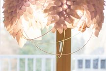 Chandeliers / Design handmade decorating from wooden, paper and other materials.