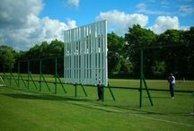 Hardball / Hardball is a cricket sliding sight screen on runners built in the UK to withstand UK weather.