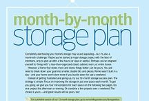 month to month storage ideas / by Darlene Forget
