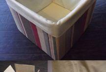 fabric box diy