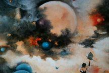 Selim Güventürk surreal artworks / oıl painting