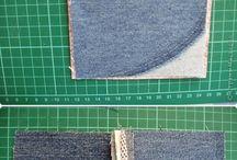 couture vieux jeans