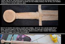 Výroba mečů a brnění a hračiček