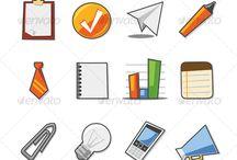 mood borad -tech logos - notepad icons