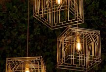 Geometric Shaped Lamps & Light Fixtures / Get inspired for your home and business decor with these gorgeous geometric shaped lamps and lighting fixtures. Check out our DIY lamp kits and tutorials at http://www.ilikethatlamp.com