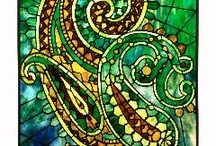 Stained Glass Mosaic Tiles / Art Nouveau, Art Deco, Arts and Crafts Style, Historic, and Contemporary