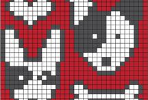 Knitted chart strikke mønster / Knit strik