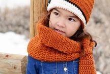 Schal-Mütze Muster