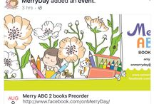 Merry ABC books / My new book project, full-colored M is for Merry Alphabet and its companion, Merry ABC Coloring Book