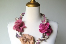 Felted Flower Necklaces