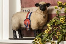 ♥ Sheep / Sheep are a meaning of peace, come follow me on a journey of the primitive sheep.   / by Sheepscot River Primitives