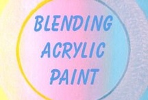 Blending acrylic paint