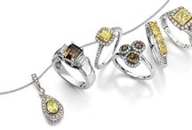 FANCY COLORED DIAMONDS / Alberto's classically designed Fancy Colored Diamond collection features beautiful gems in hues of brown, yellow, pink and green that radiate with intensity.