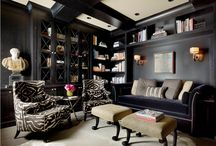 Home Office / Luxury home office designs with industrial, rustic, and steampunk inspired spaces.