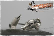 Vakkancs Greyhound mini-sculpture jewelry