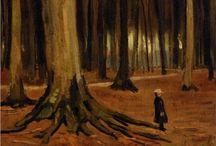 Bomen in de kunst / Bomen als inspiratiebron voor kunstenaars.  Wil je hier laten zien hoe jij dit thema hebt uitgewerkt? Dat kan, volg dit bord en we sturen je een uitnodiging.