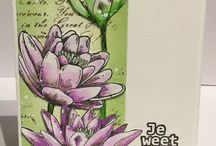 XL stamp Lily / all artwork made with the Art Journey stamp set Lily
