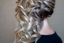 hair up / updo curling hair up wedding prom