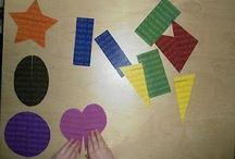Učíme se - Tvary / Aktivity a hry na procvičování tvarů s malými dětmi