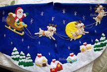 Santa closs en el cielo