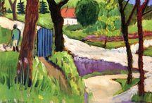 Gabriele Münter - www.evapartcafe.com / Gabriele Münter, född 19 februari 1877 i Berlin, död 19 maj 1962 i Murnau am Staffelsee, var en tysk expressionistisk målare och en förgrundgestalt för Münchens avant-gardescen i början av 1900-talet. 1902 blev Münter elev till den ryske konstnären Vasilij Kandinskij vid Phalanx-skolan i München, och hon blev senare hans älskarinna tills första världskriget skilde dem åt 1914. Han vände då hem till Ryssland och hon flyttade till Schweiz.