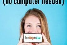 smart phone jobs (no computer needed)