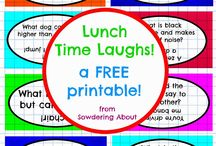 Lunchtime Laughs / FREE printables of weekly jokes to add to your child's lunchbox!