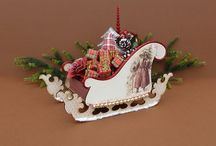 Santa's Sleigh / 3D sleighs, lots of decoration