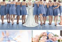 blue pink wedding