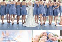 blue pink wedding