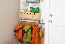 "decor- entry/ mudroom / An entryway that says ""welcome home- now put your stuff away!"""