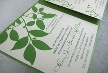 Trouwkaarten ♥ GROEN / Trouwkaart ontwerpen met groen als accent kleur.