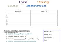 Nemčina Wochentage
