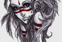 american girl tattoo