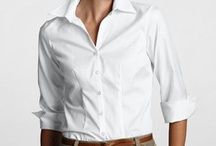 Can you work the white shirt? / Your basic white shirt can work in so many ways.  You need one...or two...or three! / by Leigh Keller