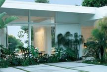 Mid-Century Modern Home Entry Way