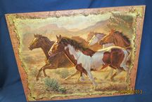 Painted Canvas Picture / Though printed on canvas, the pictures look hand painted.
