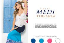 Costa Mediterránea / El relajado glamour de las playas europeas inspira nuestra nueva colección. Siluetas que fluyen con sensualidad y una paleta de colores que evoca los tonos del mar, hacen parte de Costa Mediterránea.