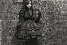 Gloomth Victoria / Gloomth's Victoria dress modeled by Sandra Sina, photos by Nicole Ziegler. Gothic Victorian fashion handmade in Canada, gothic and lolita style, clothing, goth fashion. Original!