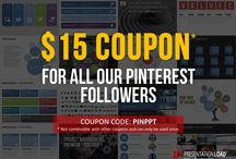 COUPONS / Use these coupons, gift cards and specials for your next purchase at PresentationLoad.com #coupon #PowerPoint