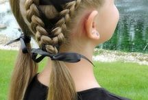 Hair styles for girls / Beautiful hair styles using hair bows, clips and barrettes