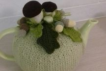 My crafts / forest tea cosy