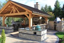 Outdoor kitchen colour scheme