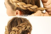 Braids and short styles!