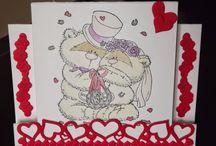 Mijn trouw(dag) kaarten / Kaarten voor trouwerijen en trouwdagen, door mij gemaakt.