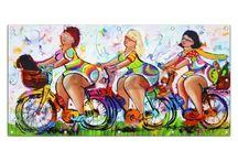 a vrolijke schilderijen