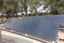 #techbutler #solar collectors / A customer site with 2 x 500 thermal Hybride cubes with Solaris drain back system