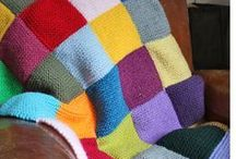 Couvertures tricot / Knitted Blankets